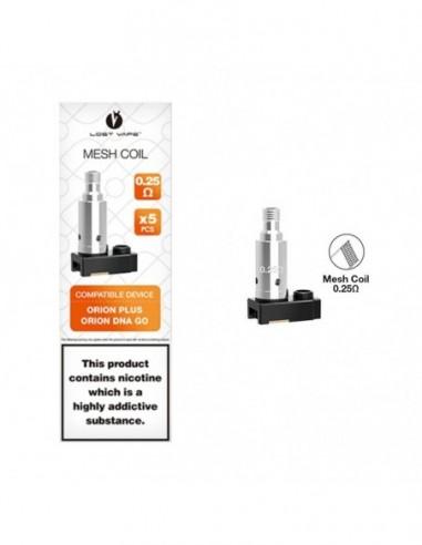 Lost Vape Orion Plus Pod/Coils 0.25ohm Mesh Coil 5pcs:0 US