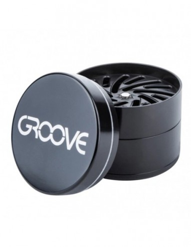 "Aerospaced Groove 4 Piece Grinder Black 2.0""(50mm) 1pcs:0 US"