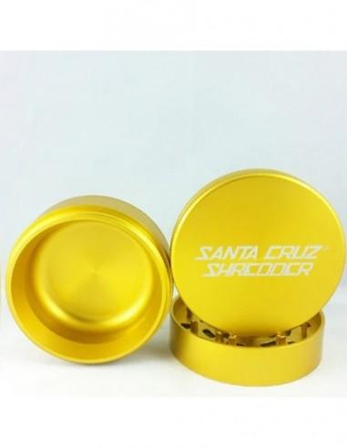 "Santa Cruz Shredder 3 Piece Grinder Gold 1 5/8"" 1pcs:0 US"