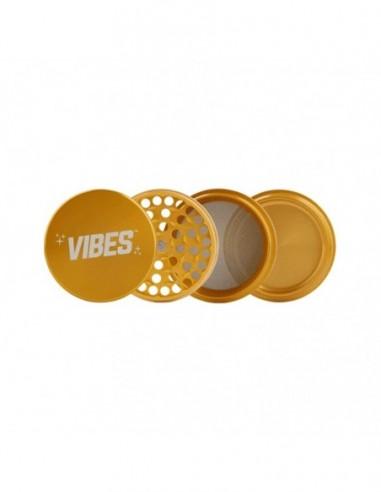 "Vibes 4 Piece Grinder Gold 2.5""(63mm) 1pcs:0 US"