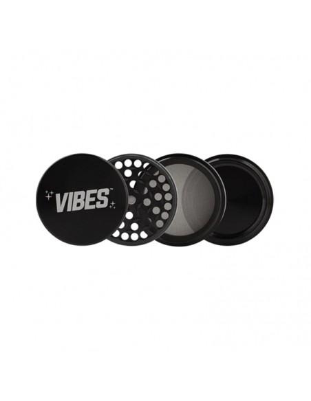 "Vibes 4 Piece Grinder Black 2.5""(63mm) 1pcs:0 US"