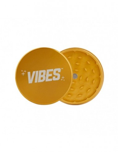 "Vibes 2 Piece Grinder Gold 2.5""(63mm) 1pcs:0 US"