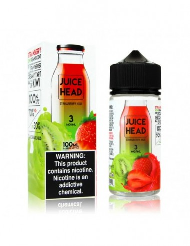 Juice Head eJuice 100ml Collection Strawberry Kiwi 0mg 1pcs:0 US