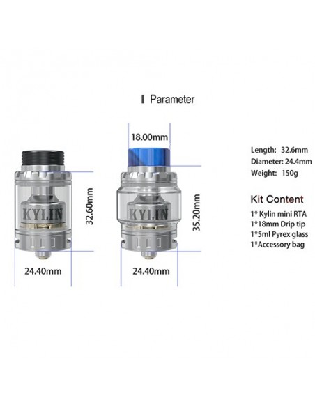 Vandy vape Kylin Mini RTA 3/5ml 2