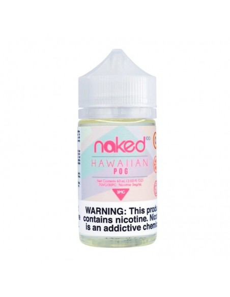 Naked 100 E-Liquid 60ml Collection Hawaiian POG 3mg 1pcs:0 US