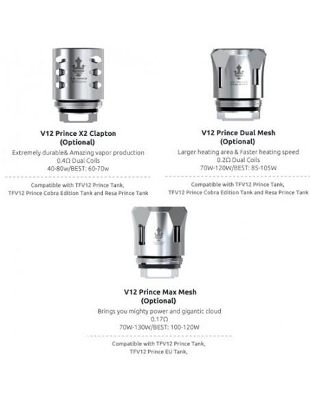 SMOK TFV12 Prince Coil(M4/Q4/X6/T10/RBA/Strip)-For TFV12 Prince 5