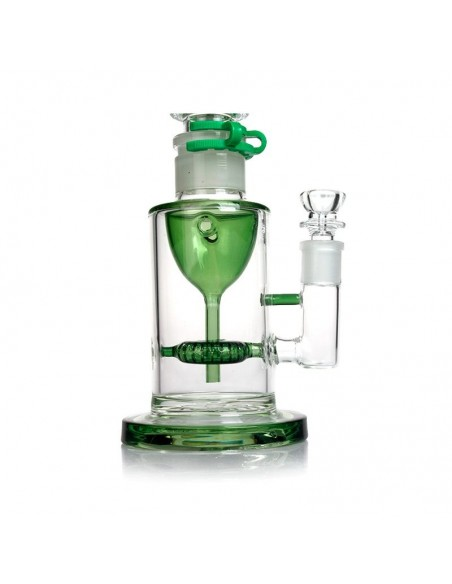 PHOENIX STAR Freezable Coil Bong With Recycler 18 inches 2