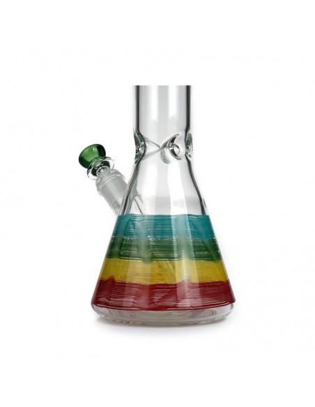 PHOENIX STAR Rasta Color Rod Beaker Bong 18 Inches 1