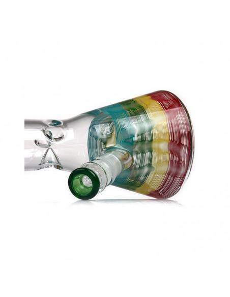 PHOENIX STAR Rasta Color Rod Beaker Bong 18 Inches 2
