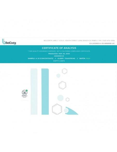 Transpring A18 Full Ceramic Cartridge & Lab Test Report 3