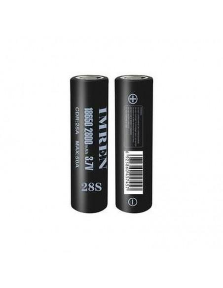 Imren 18650 Battery 2800mAh 50A 2pcs Black 2pcs:0 US