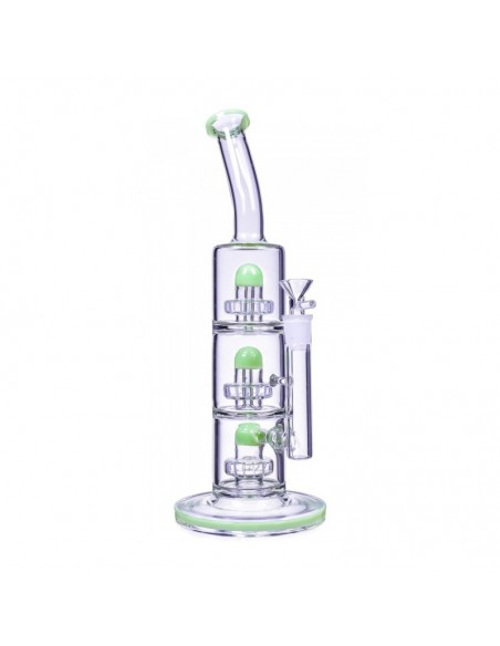 The Defender Triple Inline Showerhead Bong 14 Inches 1