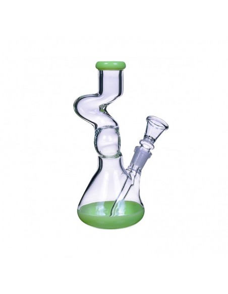 The Goliath Curved Neck Double Zong Bong 8 Inches 1