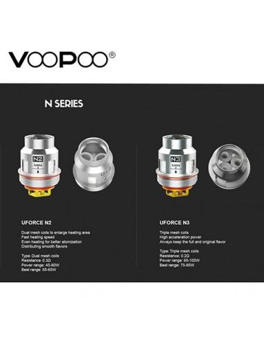 VOOPOO Replacement Coils U2/ U4/ U6/ U8/ N1/ N2/ N3/ R1/ D4/ P2 FOR Uforce/ Uforce T1 N3:0 0
