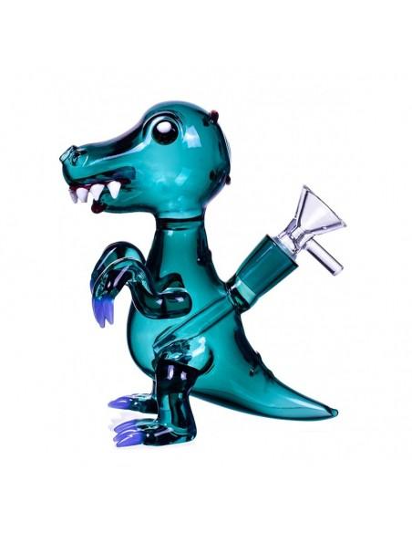 Tyrannosaurus Rex Dinosaur Bong 7 Inches Winter Green 1pcs:0 US