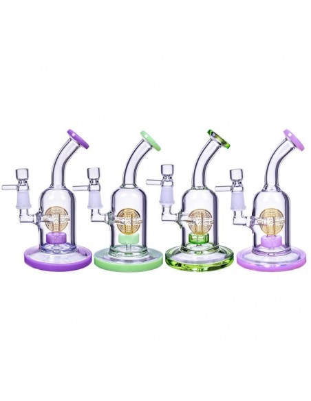 The Attraction Titled Showerhead Perc Bong & Dab Rig 7 Inches 0