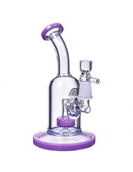 The Attraction Titled Showerhead Perc Bong & Dab Rig 7 Inches 3