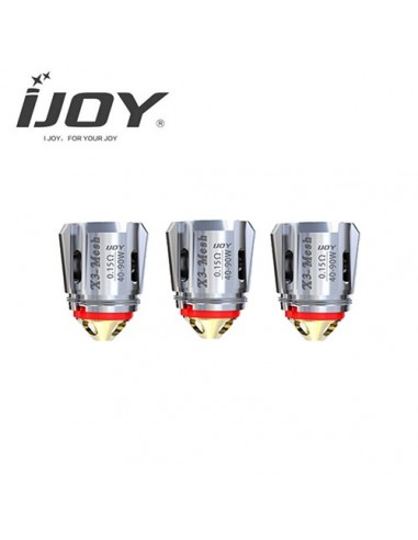 IJOY Captain Coil X3-C1/ C2/ C1S/ Mesh Coil Atomizer Core for IJOY Avenger Capain X3 Subohm Vape Tank X3-Mesh 0.15ohm:0 0