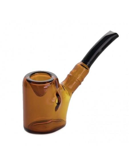 Grav Agent J Sitter Sherlock Hand Pipe 4 Inches Amber 1pcs:0 US