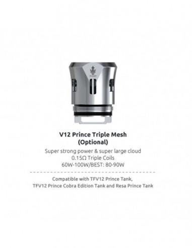 SMOK TFV12 Prince Mesh / Max Mesh / Dual Mesh / Triple Mesh Coil Triple Mesh:0 0