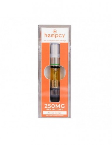 Hempcy CBD Vape Cartridge Focus Mango 250mg 1pcs:0 US