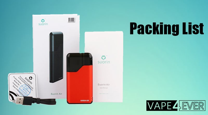 Suorin Air Package Includes