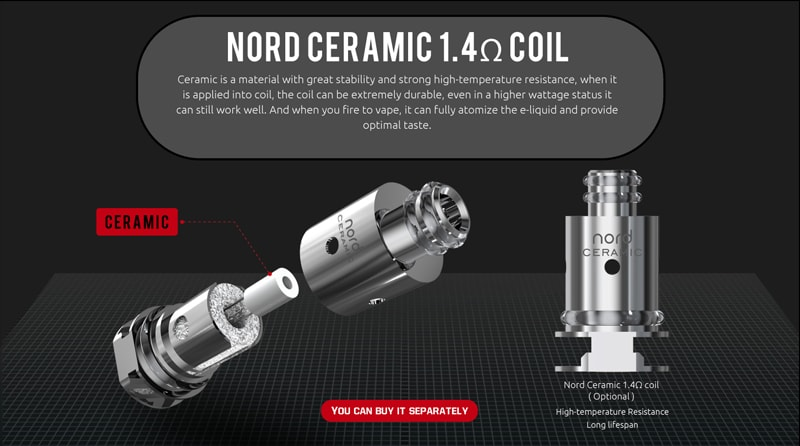 Nord Ceramic 1.4ohm Coil Option