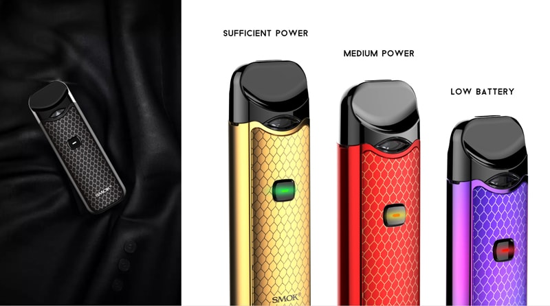 SMOK NORD Intelligent Battery Life Indicator