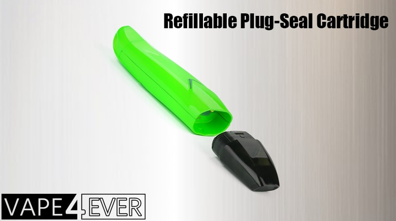 REFILLABLE CARTRIDGE WITH PLUG-SEAL