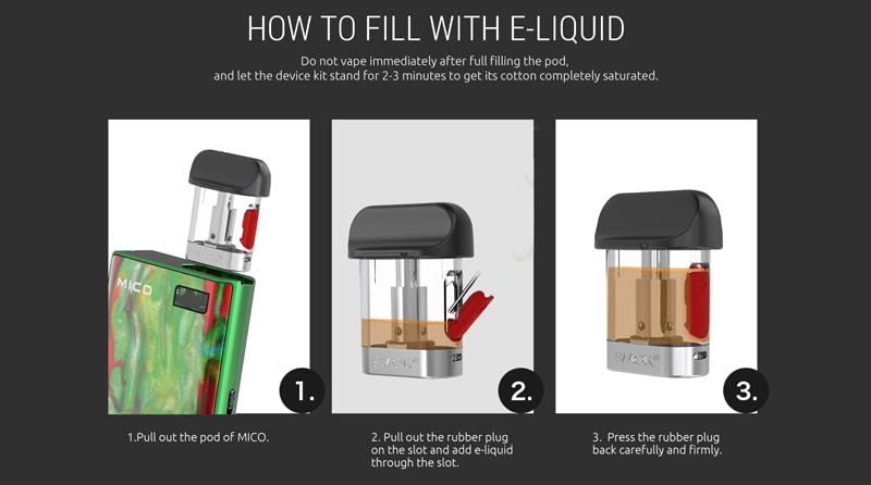 How To Fill SMOK Mico With E-liquid?