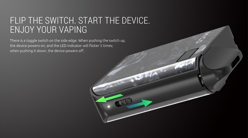 SMOK MICO Flip The Switch, Start The Device, Enjoy Your Vaping