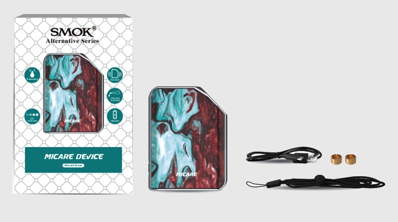 The SMOK Micare Package Includes