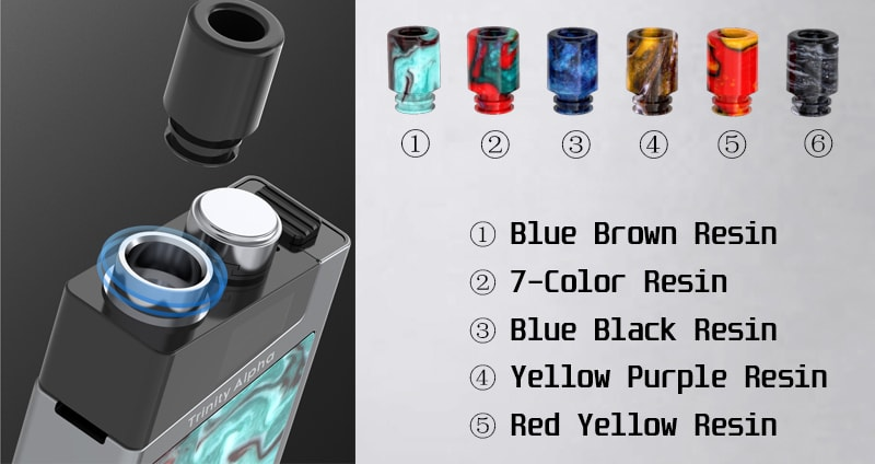 SMOK Trinity Alpha Removable Drip Tip for Different Type Option
