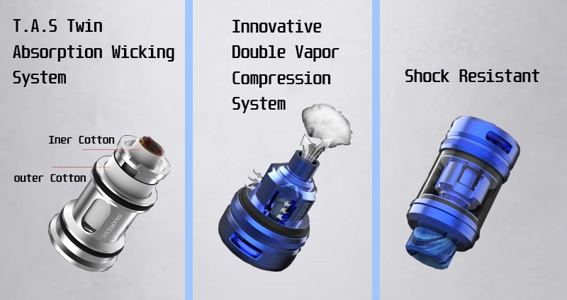 Creative design of the sub ohm tank for the beginner of vaper
