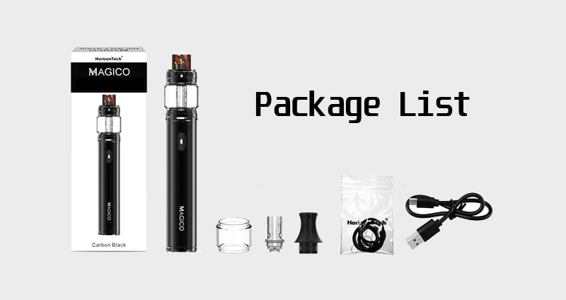 HorizonTech Magico Nic-Salt Pen Kit Package Includes