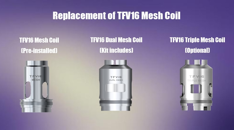 Replacement Of TFV16 Mesh Coil