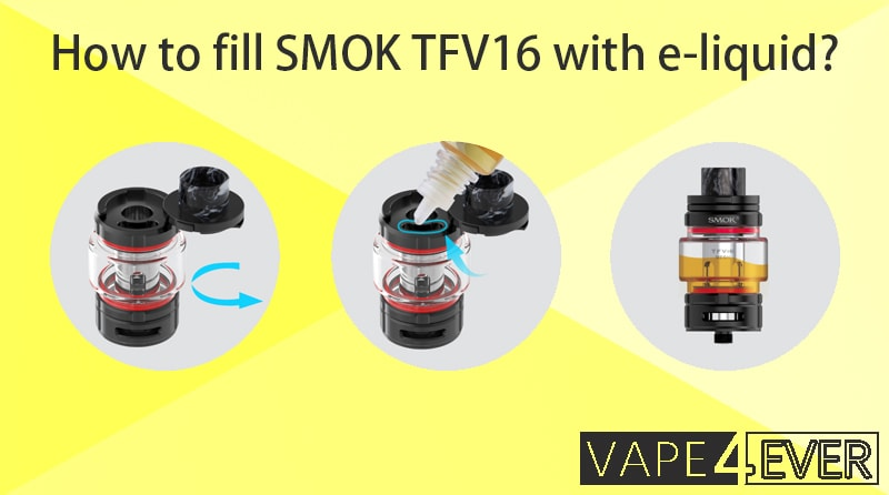 How to fill SMOK TFV16 with e-liquid?
