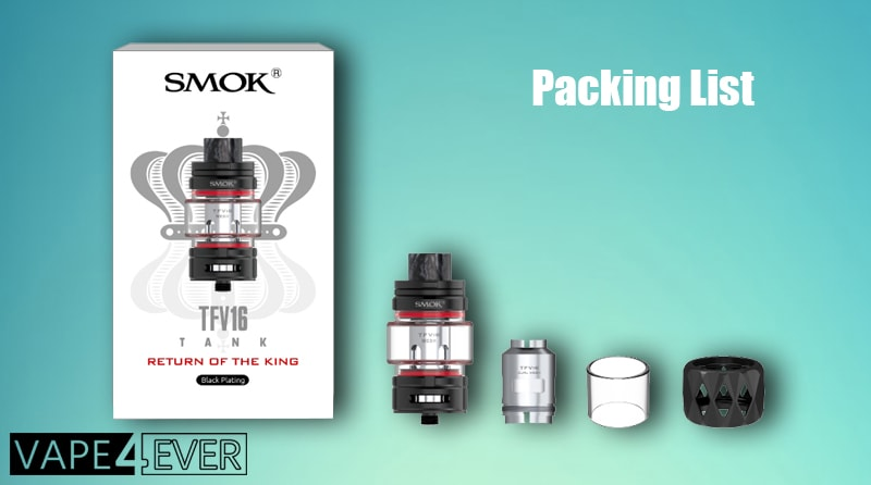 SMOK TFV16 Sub Ohm Tank Package Includes