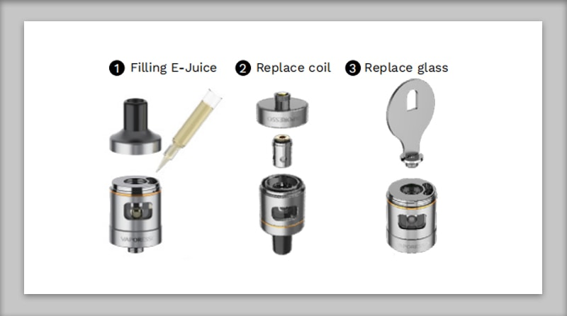 How to fill the E-juice and install the tank of the Vaporesso Target Mini 2 kit?