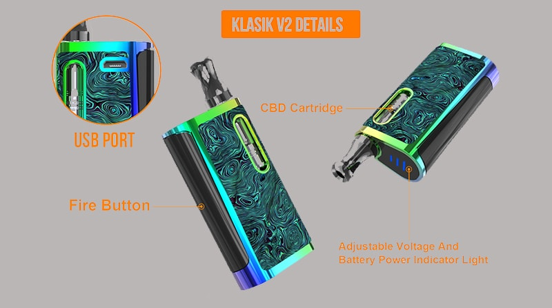 Kangvape Klasik V2 Kit Specifications