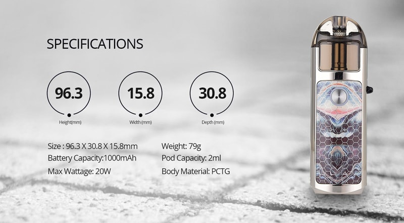 Lost Vape Lyra Pod Kit Specifications