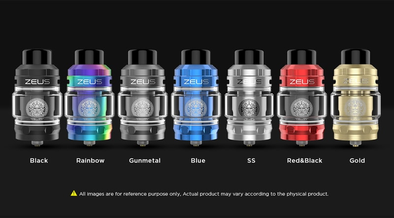 Geekvape Zeus Sub Ohm Tank Specifications