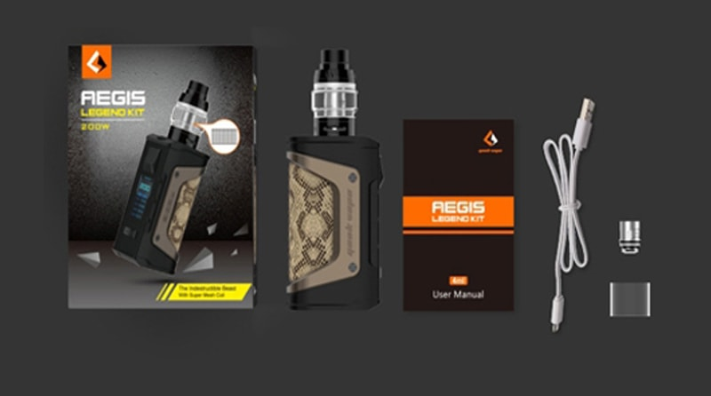 GeekVape Aegis Legend 200W Kit Package Includes