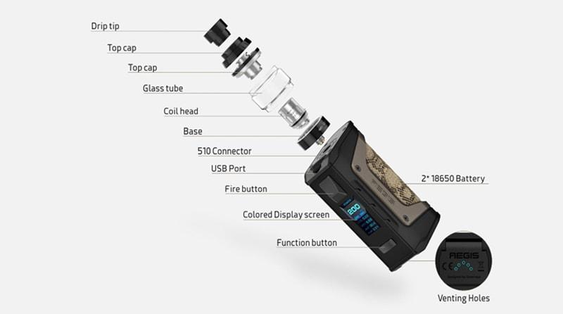 GeekVape Aegis Legend 200W Kit Specifications
