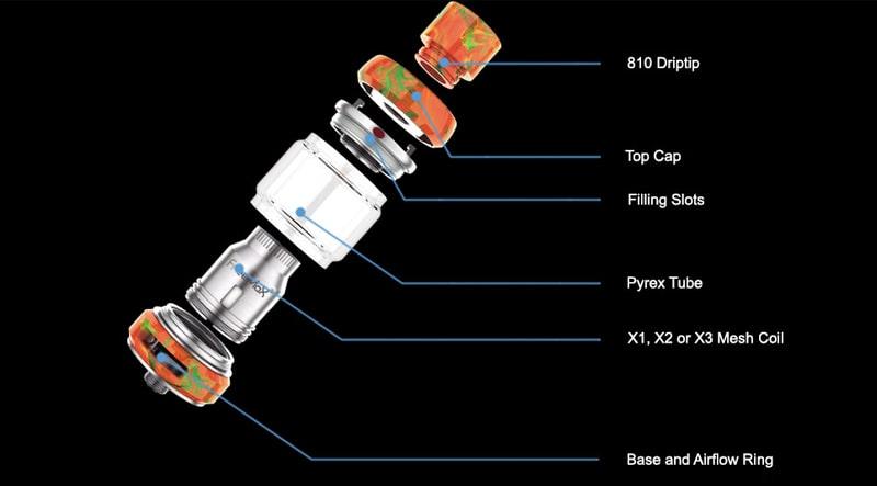 Freemax Mesh Pro Sub-Ohm Tank Features