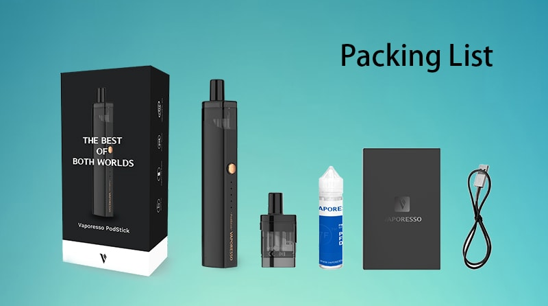 Vaporesso PodStick Pod Kit Package Includes