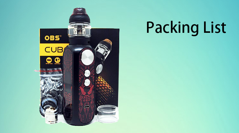 OBS Cube X Kit Package Includes