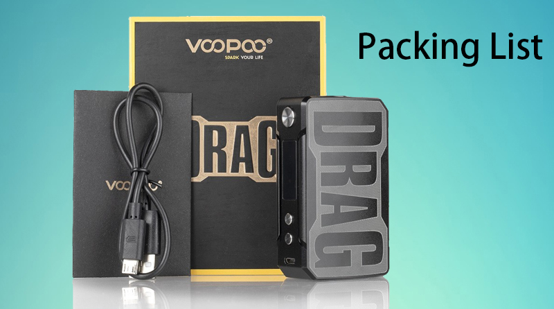 VOOPOO Drag 157W Box Mod Package Includes