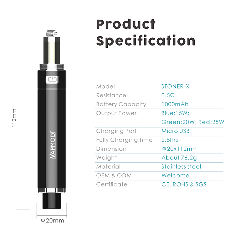 more on Vapmod Stoner-X 2 in 1 Vaporizer 1