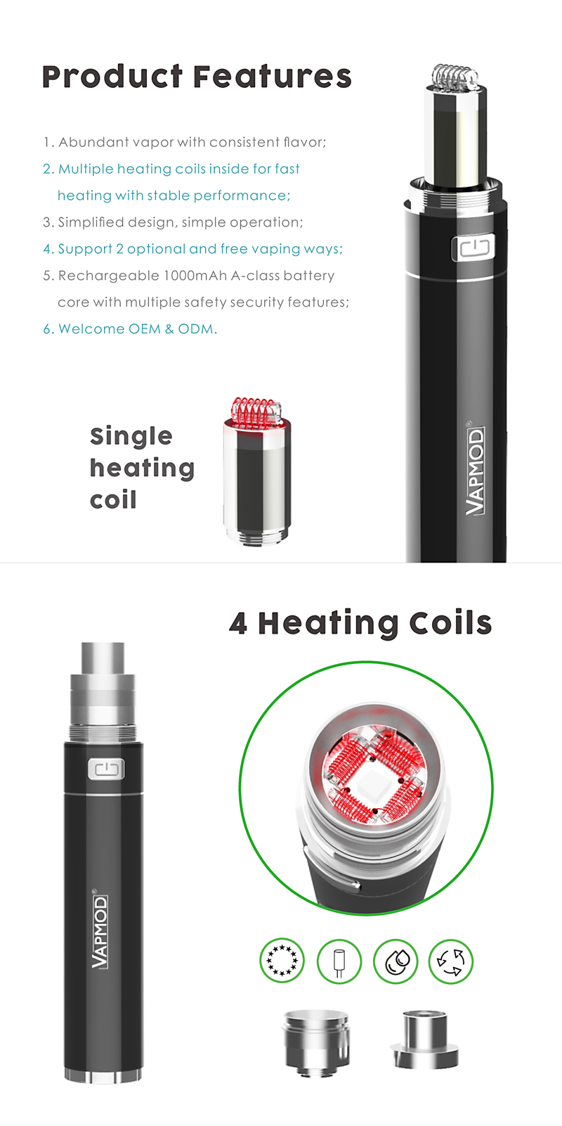 more on Vapmod Stoner-X 2 in 1 Vaporizer 3